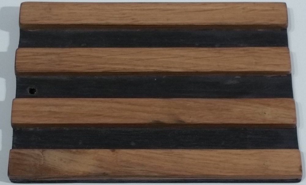 Ebonzied Black with Oak Stripes