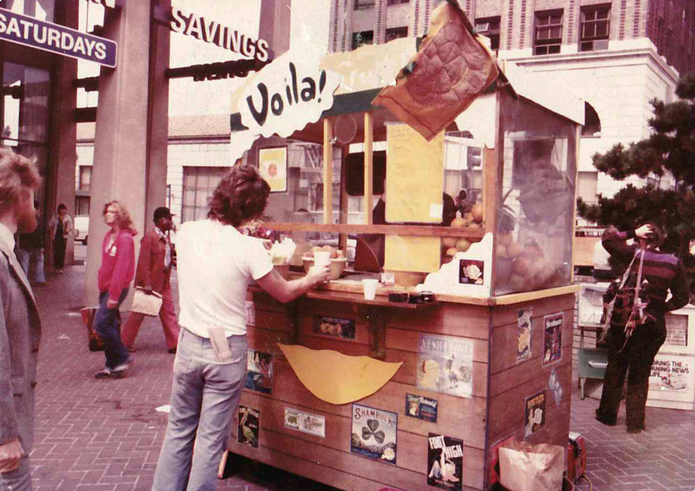 The original Voila Juice Cart circa 1978