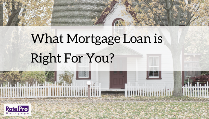 What Mortgage Loan Is Right For You?