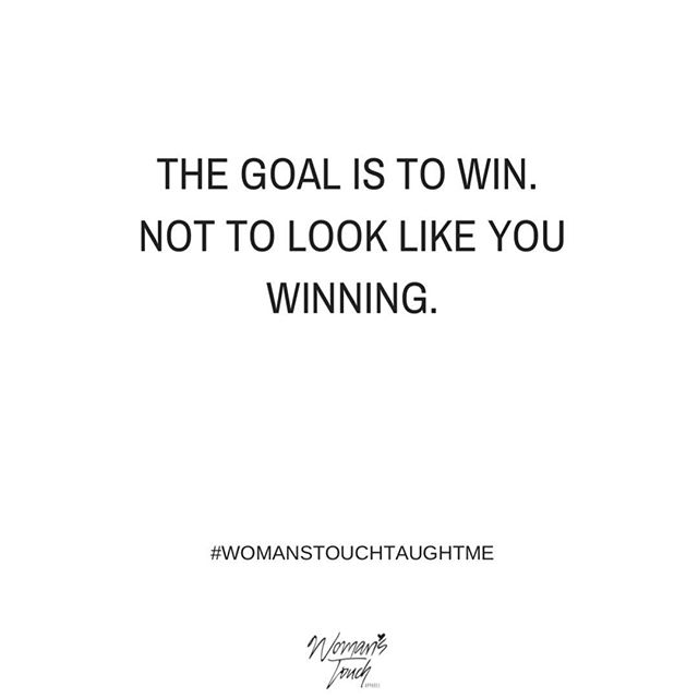 Let's win together! #womanstouchapparel #womanstouchtaughtme #womanempowerment