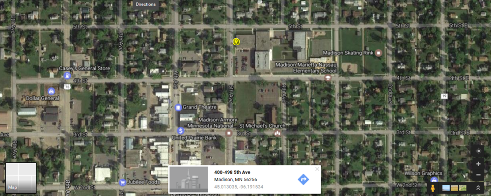 Map for Madison Classes