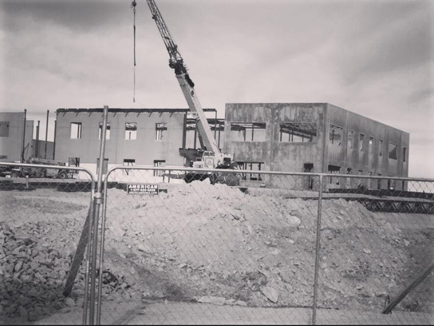 BLPA Black and White Photo of Exterior Construction