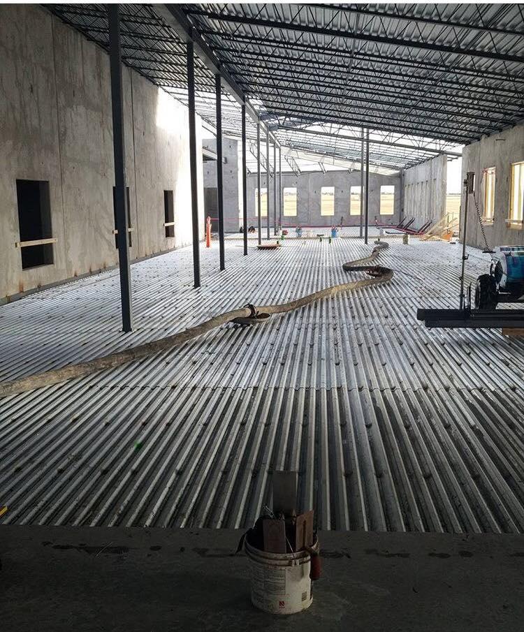 BLPA Interior Floor Concrete Pour