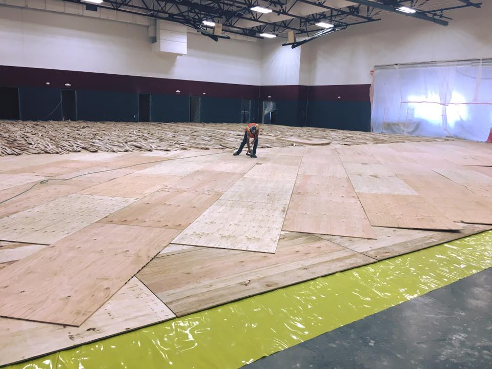 BLPA gym floor install