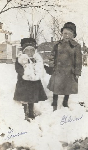 Katie's grandpa & his sister - c. 1920 Photo Credit: Louise Andrews Dunlap