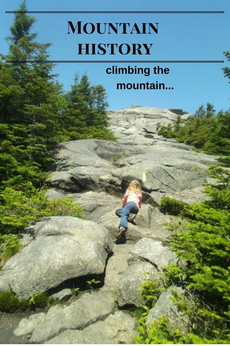 Ellie climbing the summit of Cascade Mountain