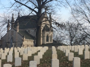 Civil War graves and the Gothic Chapel