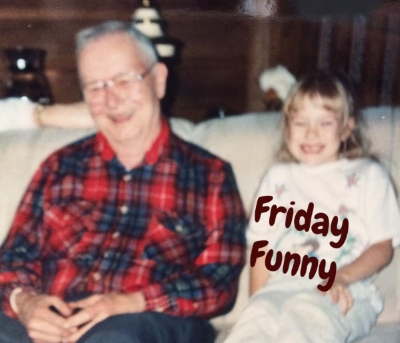 Something was funny to me and my great-grandpa here!