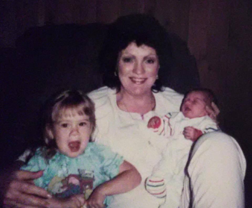 Katie & baby Kristin with Grandma Jackie