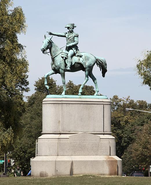 Statue of Revolutionary War Major General Nathanael Greene, located in the middle of Stanton Park, NE, Washington, D.C. Courtesy of: Library of Congress Prints & Photographs Online Catalog