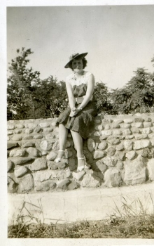 Grandma, Mary Holsclaw Andrews, in the early 1940s