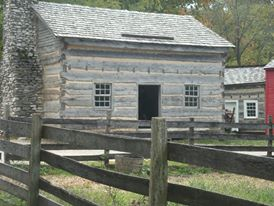 Log cabin at Conner Prairie
