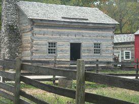 Log cabin at Conner Prairie