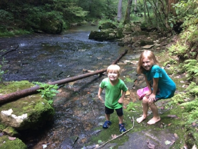 Ellie and Micah at Cave River Valley - making memories