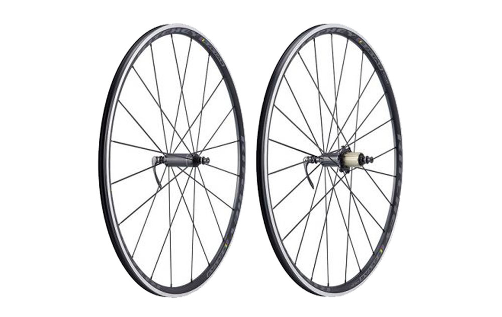 - Alloy Clincher Carbon Clincher    - Rim width: 22mm // Rim depth: 25mm    - Tubeless ready    - Hidden J-bend spokes    - Ritchey WCS Phantom Flange hubs    - Weight: 1,444g    - $619 (with purchase of frame, price includes tubes and tires)