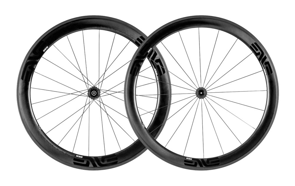 - Carbon Clincher  - Rear Rim width: 17mm/25.5mm // Rear Rim depth: 56mm  - Front Rim width: 18.5mm/27mm // Front Rim depth: 48mm  -  Chris King R45 Ceramic  - Weight: 1,511g  - $2,690 (with purchase of frame, price includes tubes and tires)