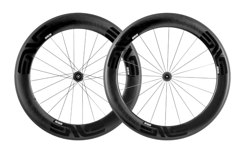 - Carbon Clincher  - Rear Rim width: 19mm/27.5mm // Rear Rim depth: 80mm  - Front Rim width: 19mm/29mm // Front Rim depth: 71mm  - Chris King R45 Ceramic  - Weight: 1,723g  - $2,690 (with purchase of frame, price includes tubes and tires)