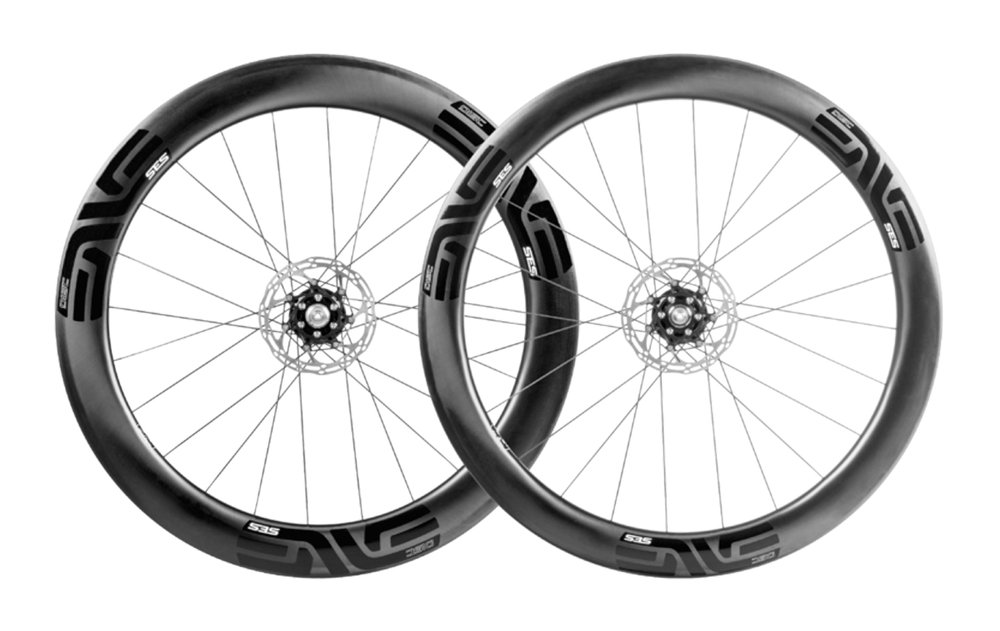 - Carbon Clincher disc brake  - Rear Rim width: 19mm/28mm // Rear Rim depth: 63mm  - Front Rim width: 19mm/28.75mm // Front Rim depth: 54mm  - DT Swiss 240 // Centerlock rotor mount  - Weight: 1,528g  - $2,500 (with purchase of frame, price includes tubes and tires)