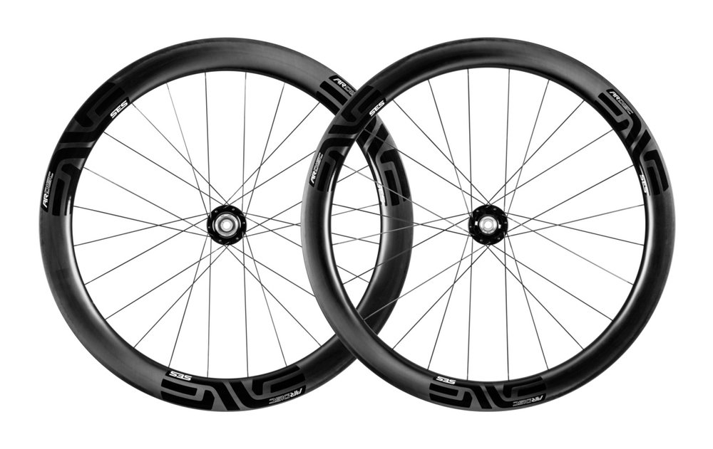 - Carbon Clincher disc brake  - Rear Rim width: 25mm/30.5mm // Rear Rim depth: 55mm  - Front Rim width: 25mm/31mm // Front Rim depth: 49mm  - Chris King R45 Ceramic Disc CL // Centerlock rotor mount  - Weight: 1,544g  - $2,699 (with purchase of frame, price includes tubes and tires)