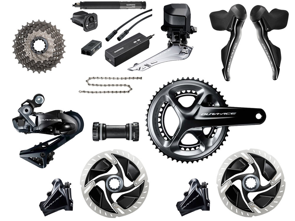 - Electric shifting // Hydraulic flat mount disc brake  - Cassette: 11-30 tooth // Chainring: 52-36 tooth  - Crank lengths: 165mm, 167.5mm, 170mm, 172.5mm, 175mm  - Special features  - $2,800 (with purchase of frame)