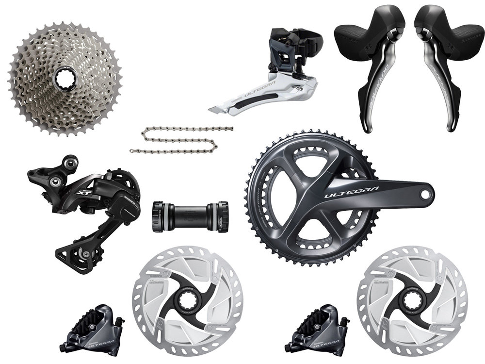 - Mechanical shifting // Hydraulic flat mount disc brake    - Cassette: 11-42 tooth // Chainring: 46-36 tooth    - Crank lengths: 165mm, 167.5mm, 170mm, 172.5mm, 175mm    - Featuring Deore XT RD-M8000 rear derailleur    - $975 (with purchase of frame)