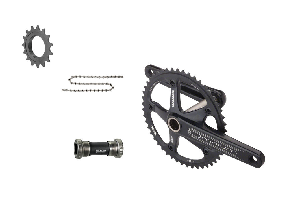 - Chainring: 48t  - Cog: 16t  - Crank lengths: 165mm, 167.5mm, 170mm, 172.5mm, 175mm  - $750 (with purchase of frame)