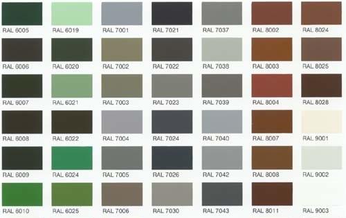 Custom Frame Colors: RAL