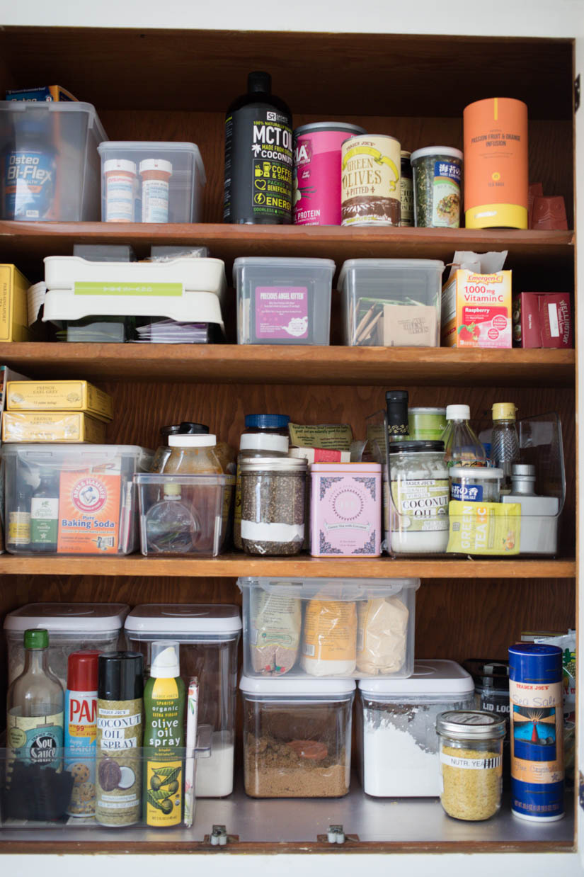 One Of Our Cabinets Has To Serve As Our Pantry Since We Donu0027t Have One In  The Kitchen. Putting Things In Their Own Containers Has Helped Tremendously  With ...