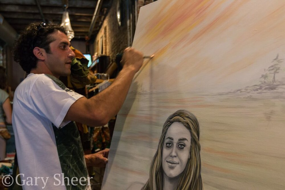 "Live Painting ""Home for You and Me"" at Cervantes Denver"