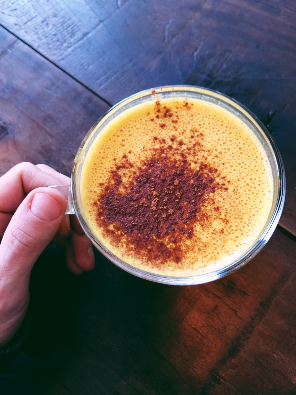Golden Lion Latte from Native Cold Pressed Juice.