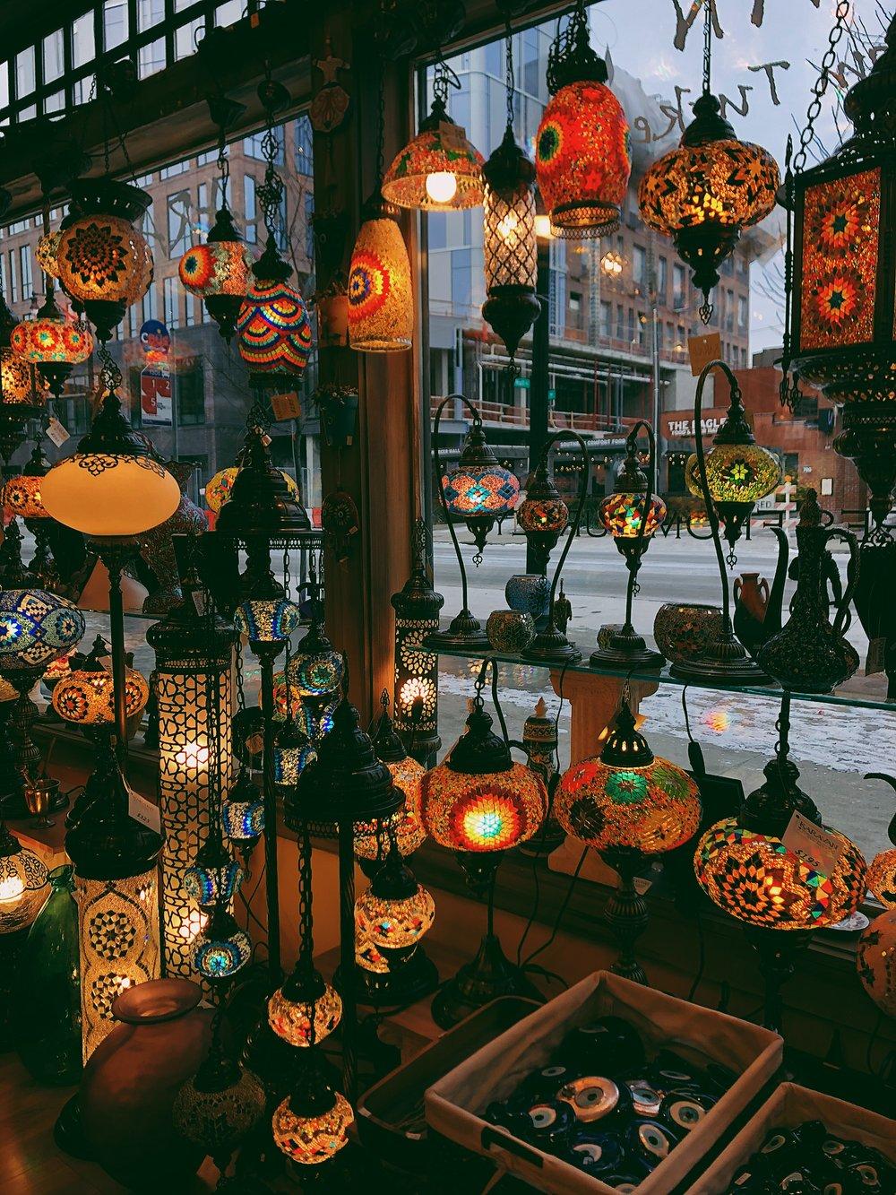 The lamps that caught my eye at Karavan Treasures From Turkey