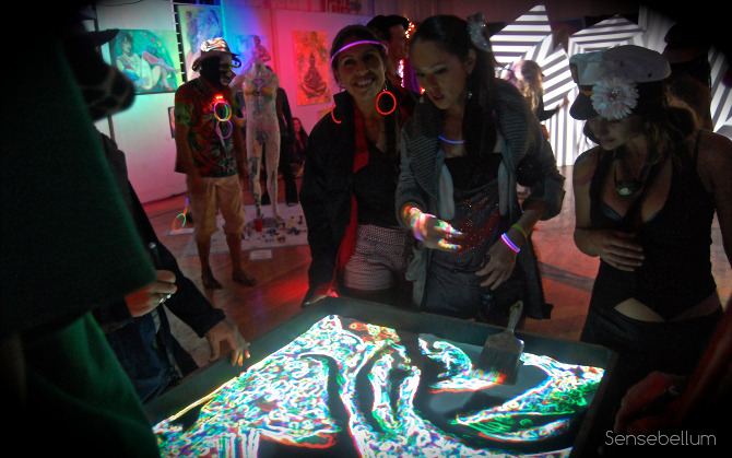 The original sandbox of life augmented reality art installation using projection mapping at SOURCE arts festival