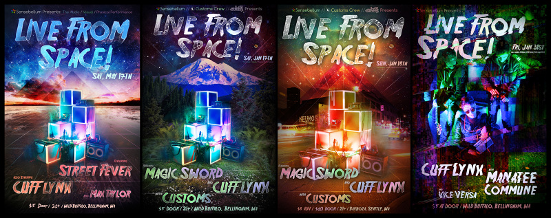 Poster design for the Live From Space projection mapping event