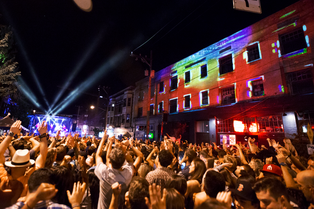 Capitol Hill Block Party Projection Mapping
