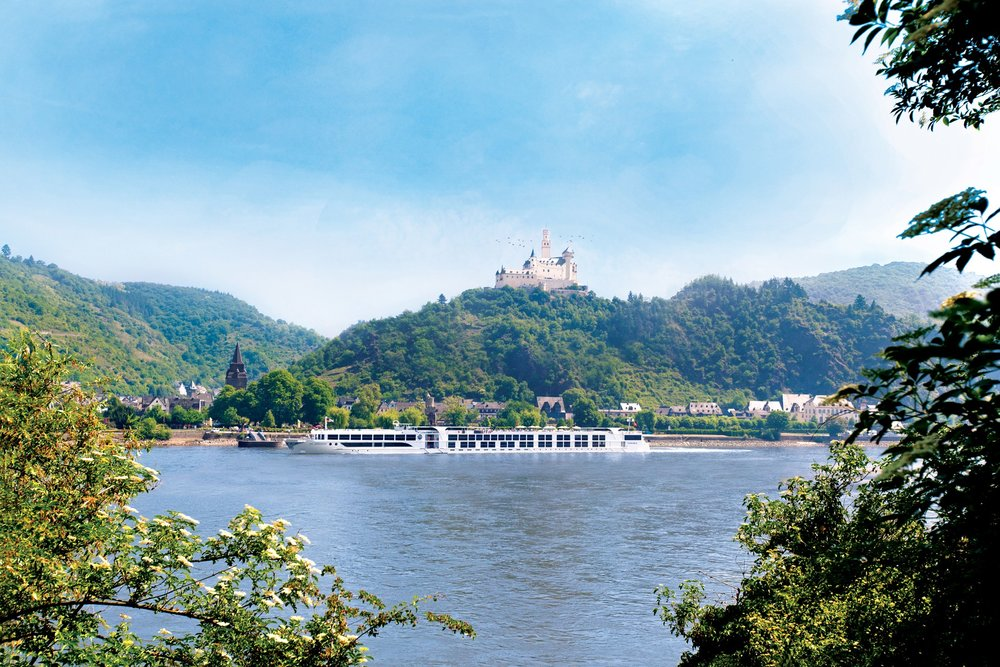 Sail past gorgeous castles on the Rhine River