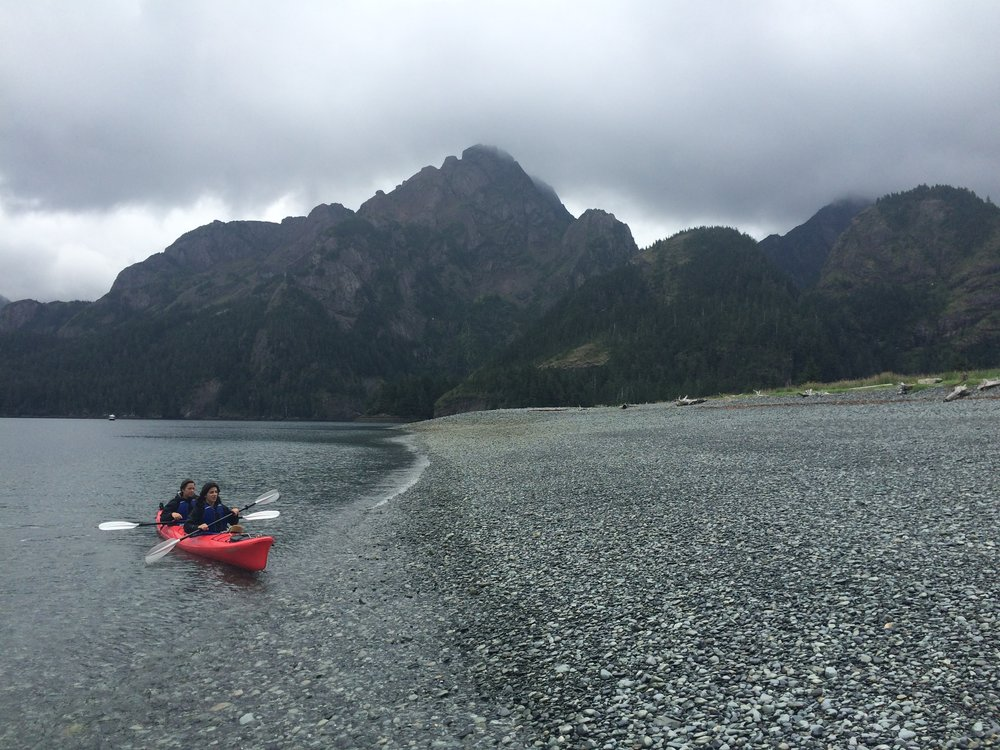 Making landfall, Fox Island, Resurrection Bay.