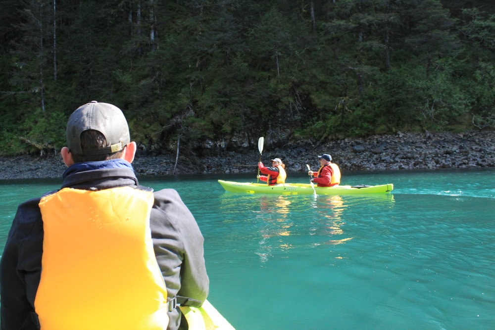 Kayaking is our other silent mode of exploring.