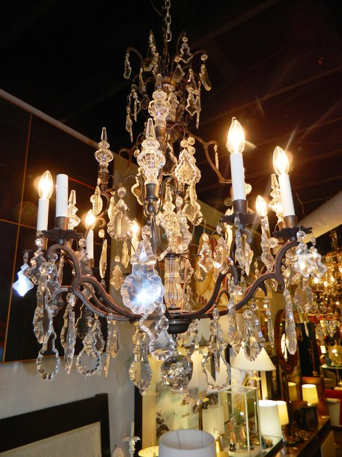 8 light crystal chandelier by schonbek dulce 8 light crystal chandelier by schonbek aloadofball Gallery