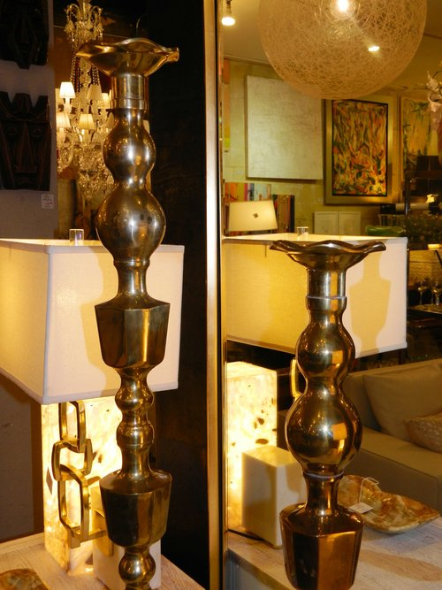 Set of 2 Brass Candle Holders — Dulce