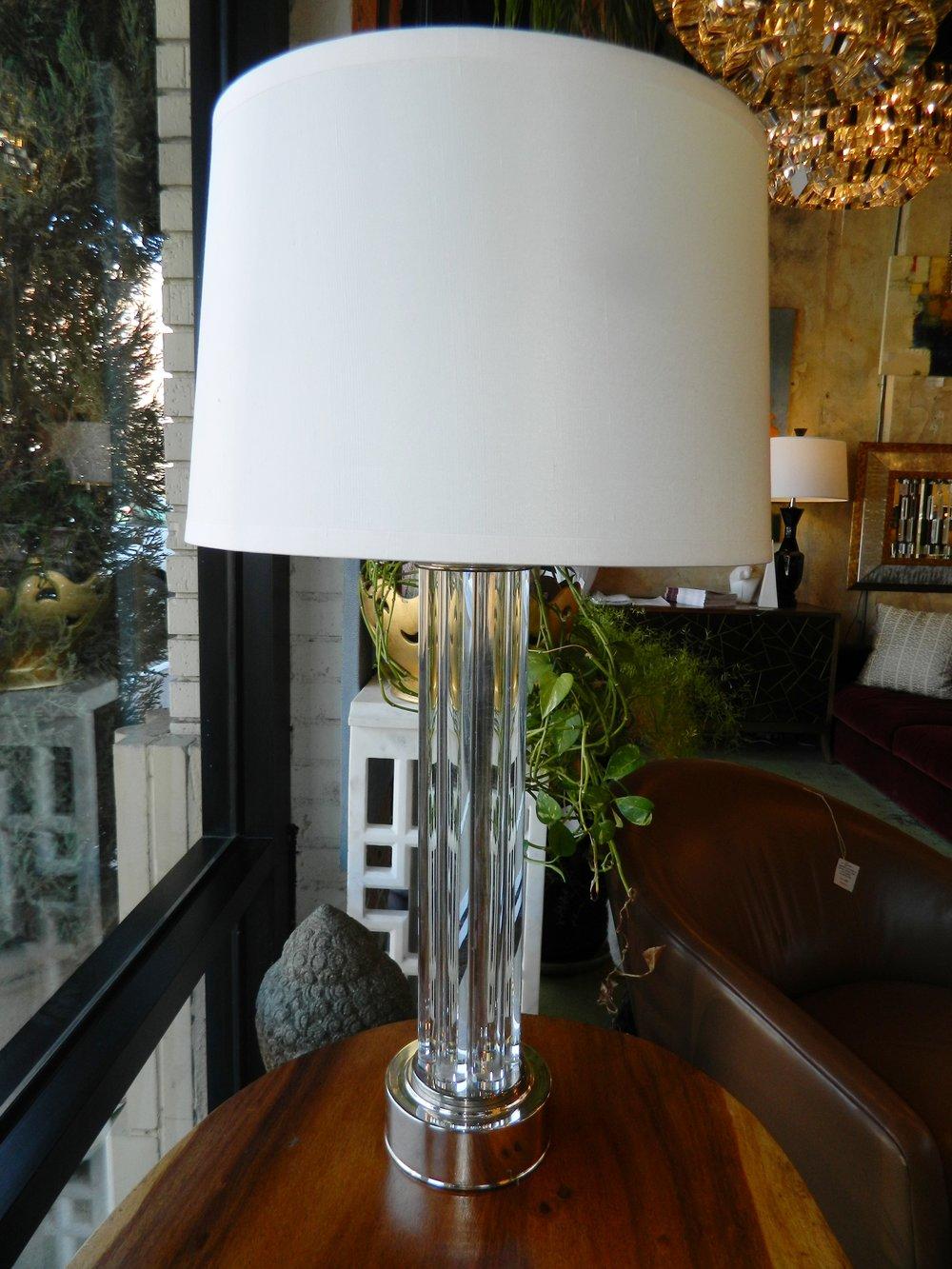 Restoration Hardware Small Flute Acrylic Table Lamp