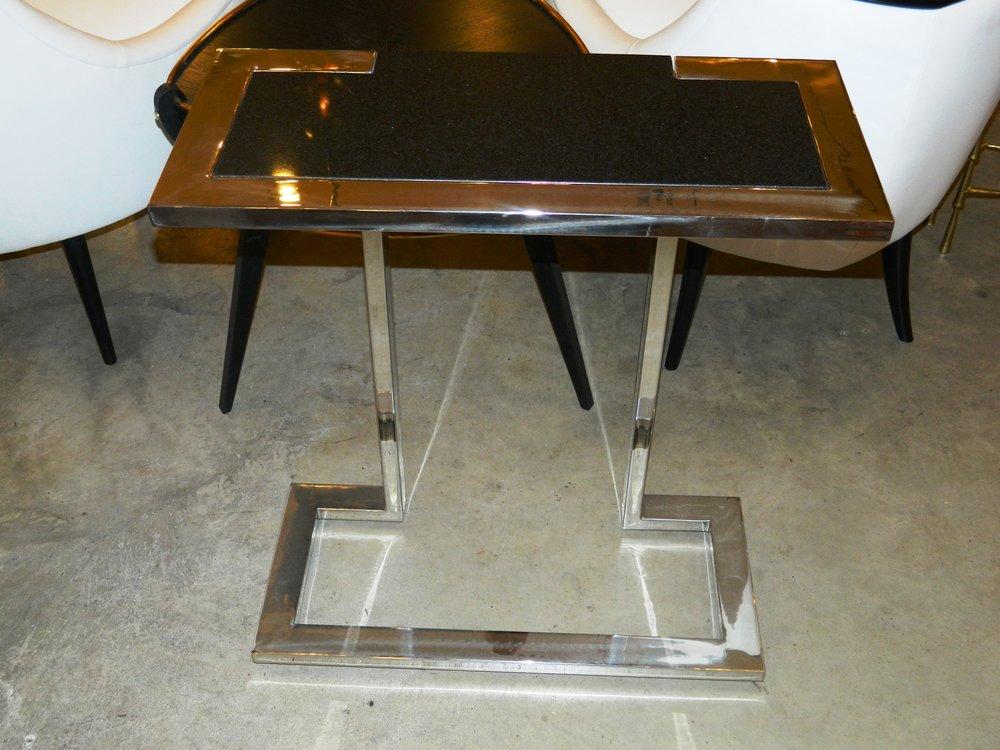 Nickel U0026 Granite Console Table