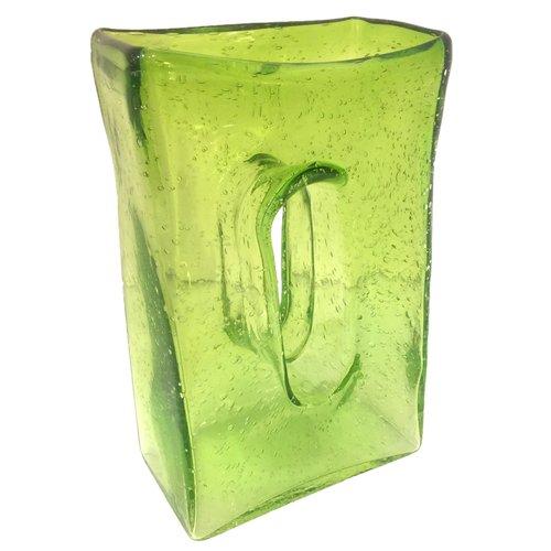 Green Glass Rectangular Vase Dulce
