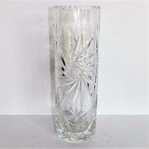 Cut Crystal Cylinder Vase Dulce