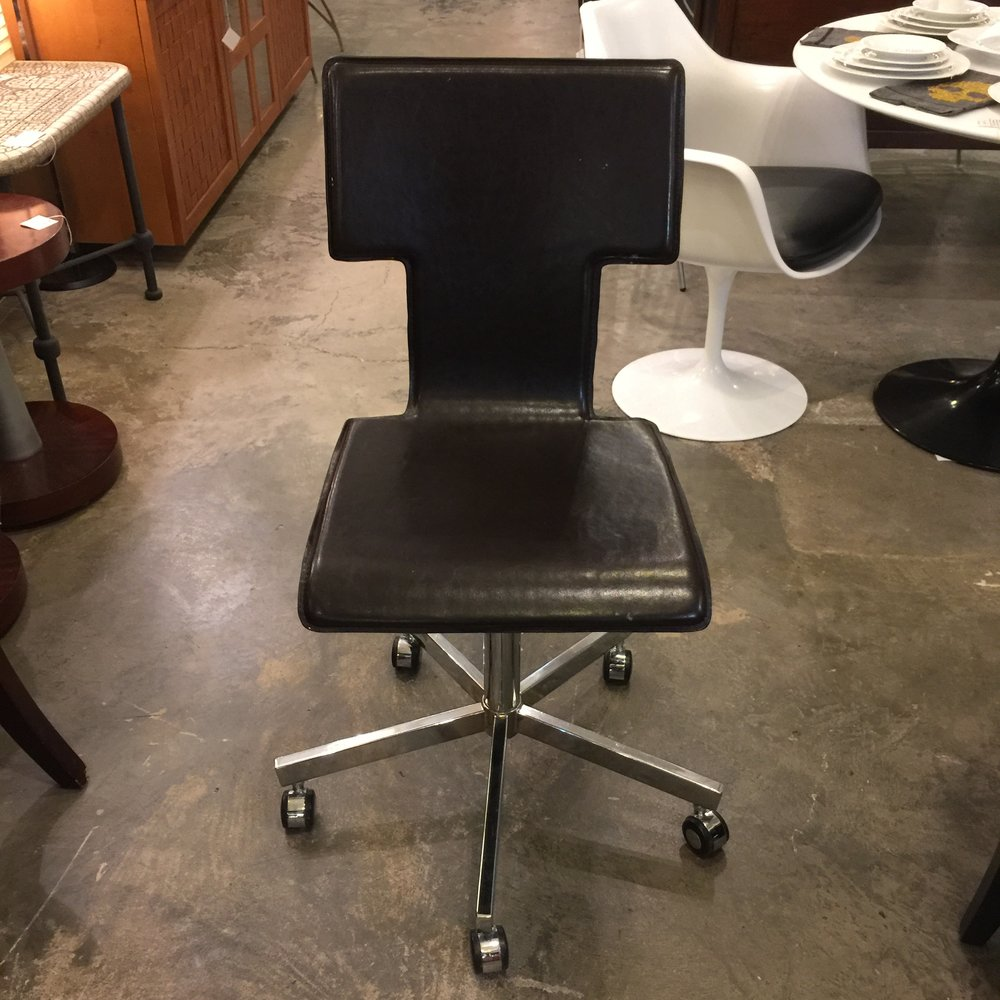 West elm office chair Living Room West Elm Brown Leather Desk Chair Greenhomeproinfo West Elm Brown Leather Desk Chair Dulce