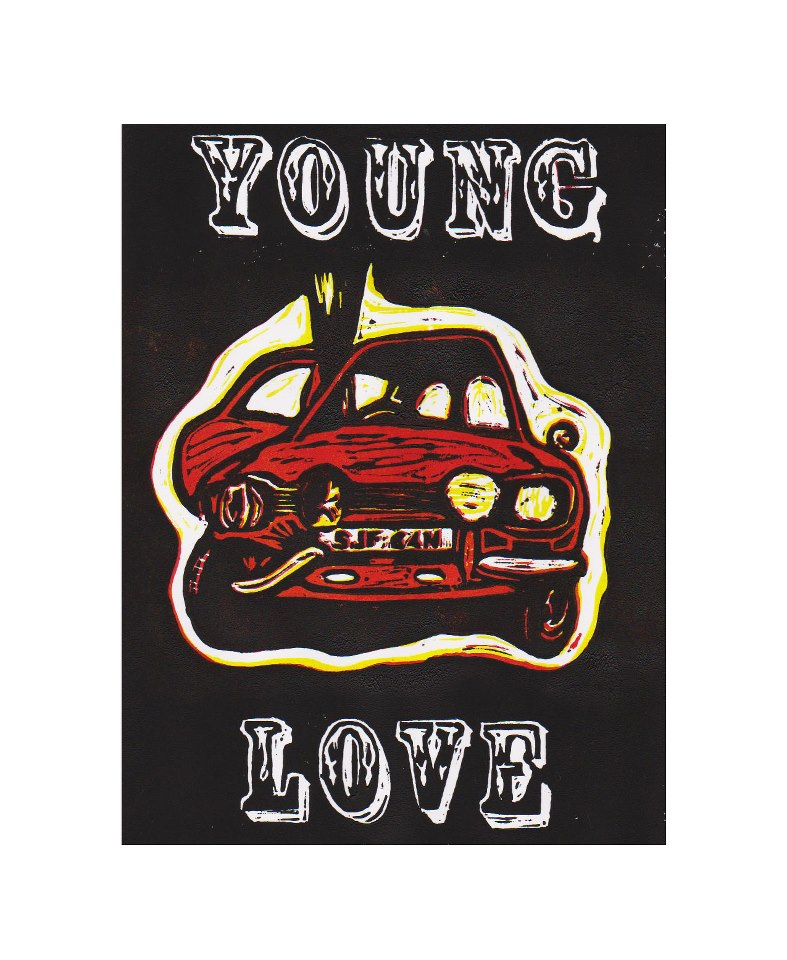 Young Love, Lino Print, 2012