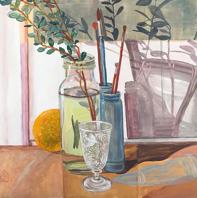 "Morning inspiration by @kiatamasonart . ""One of my little works in Vase & Vessel a group exhibition curated by @amber_creswell_bell an ode to Morandi on soon at @saint_cloche #morandi #groupexhibition #sydneyartscene #sydneyart #vaseandvesselshow #stillife #stilllifepainting #kiatamasonart #interior"""