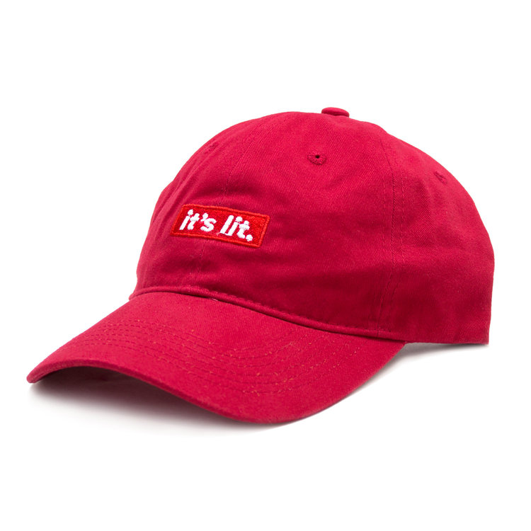 It s Lit. Dad Hat - Red — The Artist Collective 5bf5f69cb303