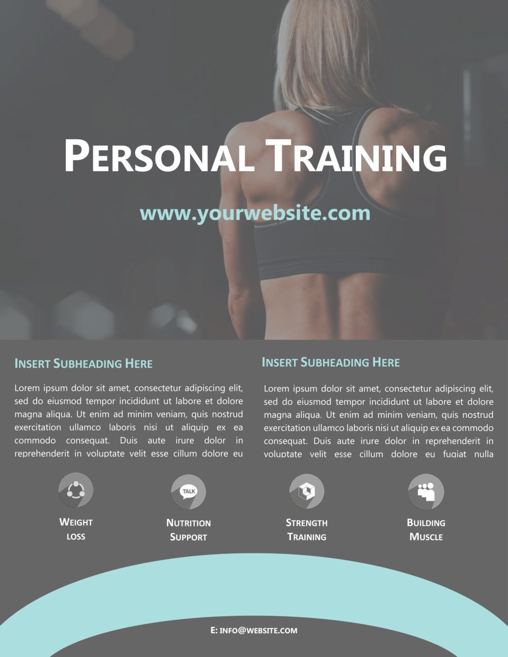 free strength first personal training flyer introspec marketing