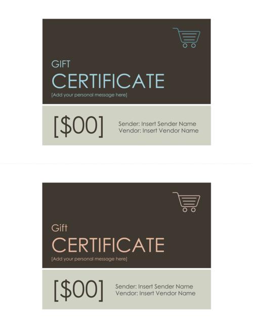 Free modern peach aqua gift certificate template introspec marketing free modern peach aqua gift certificate template yadclub Image collections