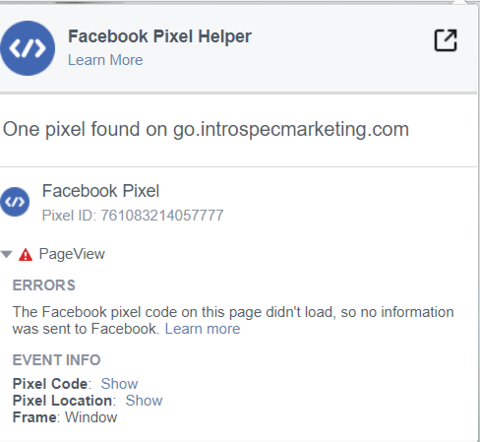 Facebook pixel code on this page didn't load so no information was sent to Facebook.png